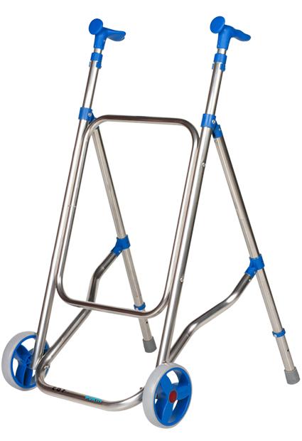 Andador Aluminio con 2 Ruedas, Plegable Car Forta